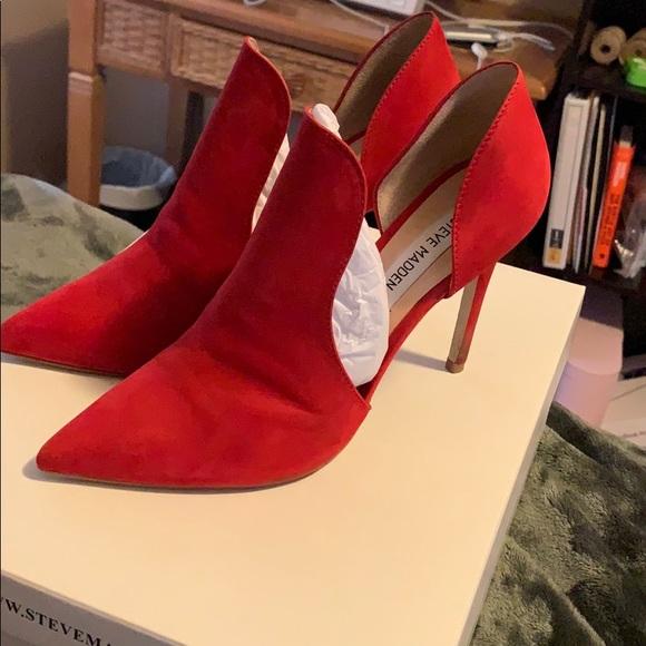 27c7c28e32 Steve Madden Shoes   Dolly Red Nubuck   Poshmark